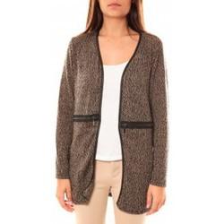 Textiel Dames Vesten / Cardigans Nina Rocca Gilet L'Oasi Taupe Beige