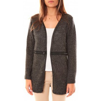 Textiel Dames Vesten / Cardigans Nina Rocca Gilet L'Oasi Gris Anthracite Grijs