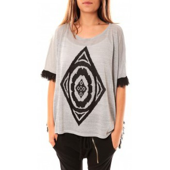 Textiel Dames Truien Tcqb Poncho Di&A 0196 Gris Grijs