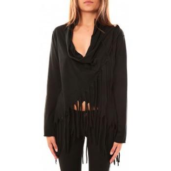 Textiel Dames Truien De Fil En Aiguille Pull Viki Noir Zwart