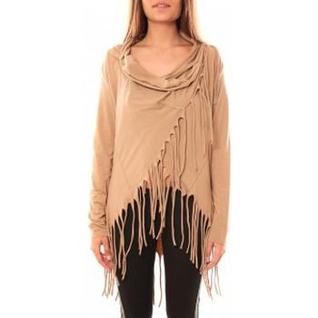 Textiel Dames Truien De Fil En Aiguille Gilet Viki Marron Bruin