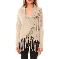 Textiel Dames Truien De Fil En Aiguille Gilet Viki Beige Beige