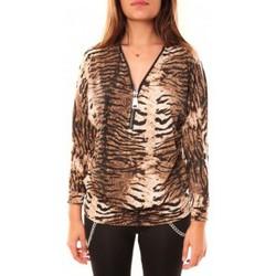 Textiel Dames T-shirts met lange mouwen Dress Code T-shirt May&CO 2529 Beige Beige