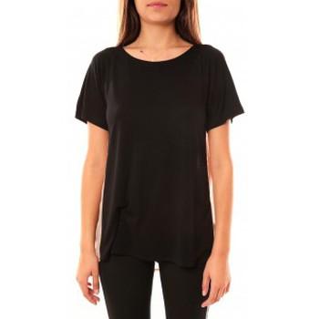 Textiel Dames T-shirts korte mouwen Coquelicot T-shirt CQTW14311 Noir Zwart