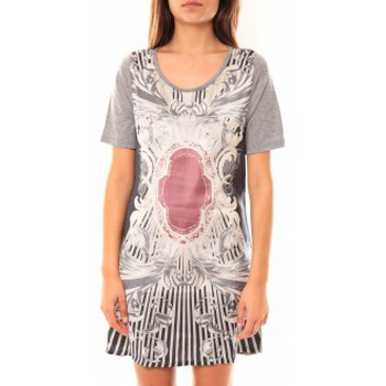Textiel Dames Tunieken Coquelicot Robe Tunique CQTW14212 Gris Grijs