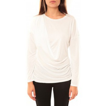 Textiel Dames T-shirts met lange mouwen Coquelicot T-shirt CQTW14303 Blanc Wit