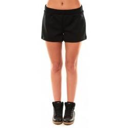 Textiel Dames Korte broeken / Bermuda's Coquelicot Short CQTW14617 Noir Zwart
