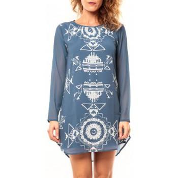 Textiel Dames Tunieken Coquelicot Tunique CQTW14206 Bleu Blauw