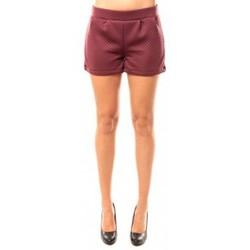 Textiel Dames Korte broeken / Bermuda's Coquelicot Short CQTW14617 Bordeaux Rood