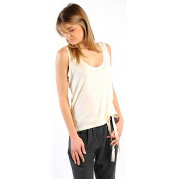 Textiel Dames Mouwloze tops American Vintage DEBARDEUR NOU27 NATUREL Beige
