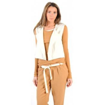 Textiel Dames Vesten / Cardigans American Vintage GILET LEA134 NATUREL Beige