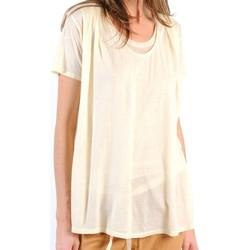 Textiel Dames T-shirts korte mouwen American Vintage TOP BEL20E11 NATUREL Beige