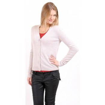 Textiel Dames Vesten / Cardigans American Vintage GILET CIN239H10 SABLE Beige