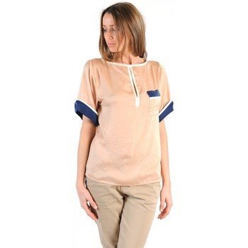 Textiel Dames T-shirts korte mouwen Tcqb TOP MIMOSA BEIGE Beige