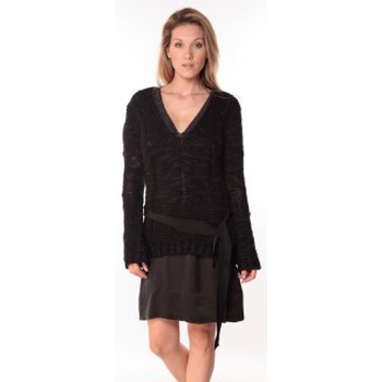 Textiel Dames Truien Sack's Pull Military Noir 21190559 Zwart