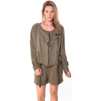 Textiel Dames Tops / Blousjes Sack's Veste Woman Kaki 21150088 Groen