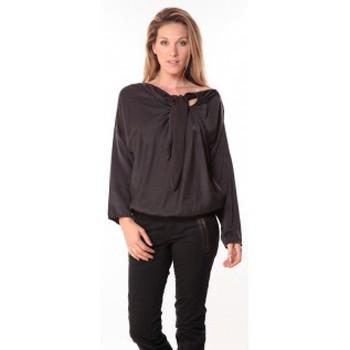 Textiel Dames Tops / Blousjes Sack's Blouse Bow Noire Zwart