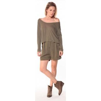 Textiel Dames Korte broeken / Bermuda's Sack's Short Dean 21115542 Kaki Groen