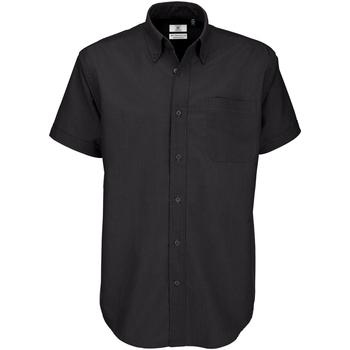 Textiel Heren Overhemden korte mouwen B And C SMO02 Zwart