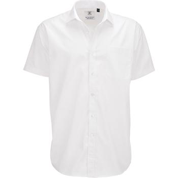 Textiel Heren Overhemden korte mouwen B And C SMP62 Wit
