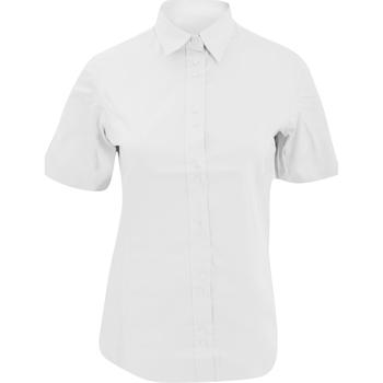 Textiel Dames Polo's korte mouwen Kustom Kit KK387 Wit