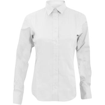 Textiel Dames Overhemden Kustom Kit KK388 Wit