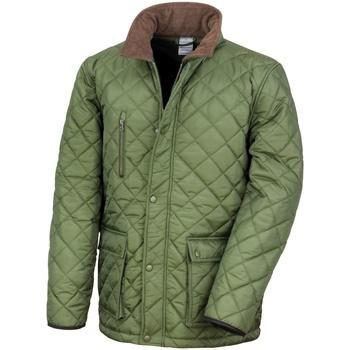 Textiel Heren Dons gevoerde jassen Result R196X Olijf