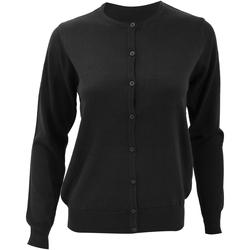 Textiel Dames Vesten / Cardigans Kustom Kit KK355 Zwart