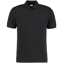 Textiel Heren Polo's korte mouwen Kustom Kit KK413 Zwart