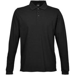 Textiel Heren Polo's lange mouwen Tee Jays TJ1406 Zwart