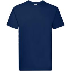 Textiel Jongens T-shirts korte mouwen Fruit Of The Loom 61044 Marine