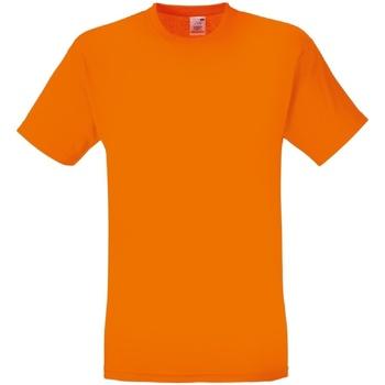 Textiel Heren T-shirts korte mouwen Fruit Of The Loom 61082 Oranje