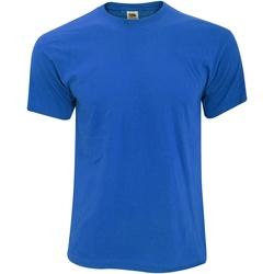 Textiel Heren T-shirts korte mouwen Fruit Of The Loom 61082 Royaal Blauw