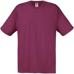 Textiel Heren T-shirts korte mouwen Fruit Of The Loom 61082 Bordeaux