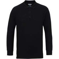 Textiel Heren Polo's lange mouwen Gildan 85900 Zwart