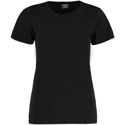 Textiel Dames T-shirts korte mouwen Kustom Kit Superwash Zwart