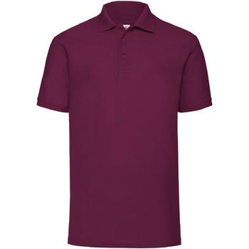 Textiel Heren Polo's korte mouwen Fruit Of The Loom 63402 Bordeaux
