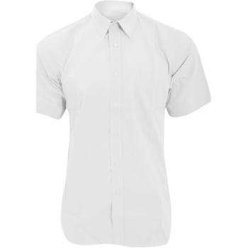 Textiel Heren Overhemden korte mouwen Fruit Of The Loom 65116 Wit