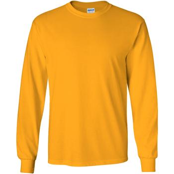 Textiel Heren T-shirts met lange mouwen Gildan 2400 Goud