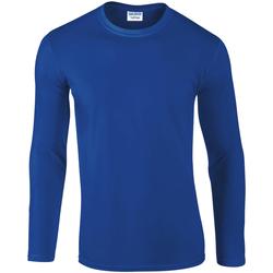 Textiel Heren T-shirts met lange mouwen Gildan 64400 Koninklijk