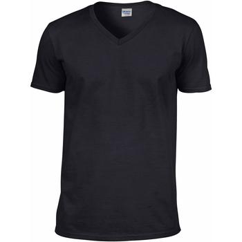 Textiel Heren T-shirts korte mouwen Gildan 64V00 Zwart