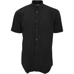 Textiel Heren Overhemden korte mouwen Kustom Kit KK100 Zwart