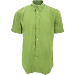 Textiel Heren Overhemden korte mouwen Kustom Kit KK100 Kalk