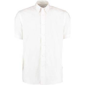 Textiel Heren Overhemden korte mouwen Kustom Kit KK100 Wit