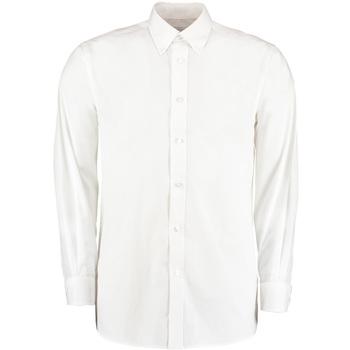 Textiel Heren Overhemden lange mouwen Kustom Kit KK140 Wit