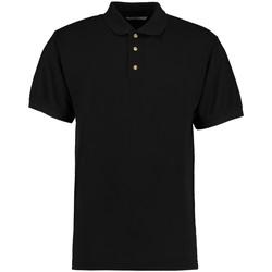 Textiel Heren Polo's korte mouwen Kustom Kit KK400 Zwart