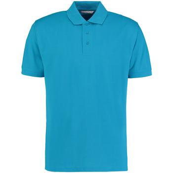 Textiel Heren Polo's korte mouwen Kustom Kit KK403 Turquoise