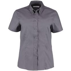 Textiel Dames Overhemden Kustom Kit KK701 Houtskool