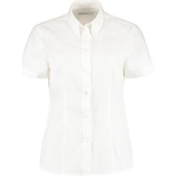 Textiel Dames Overhemden Kustom Kit KK701 Wit
