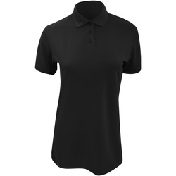 Textiel Dames Polo's korte mouwen Kustom Kit Klassic Zwart